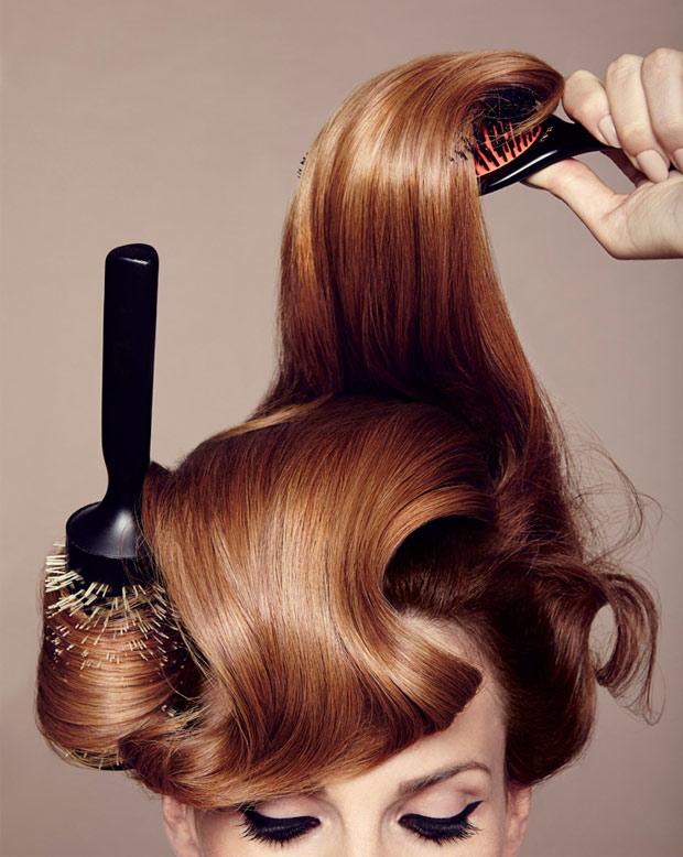 Брашинг для волос причесок